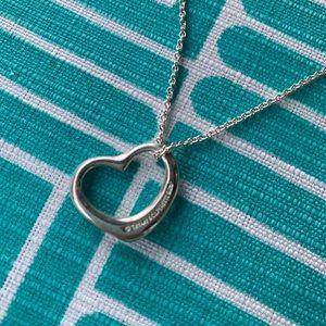 Tiffany & co Elsa Peretti sterling heart necklace